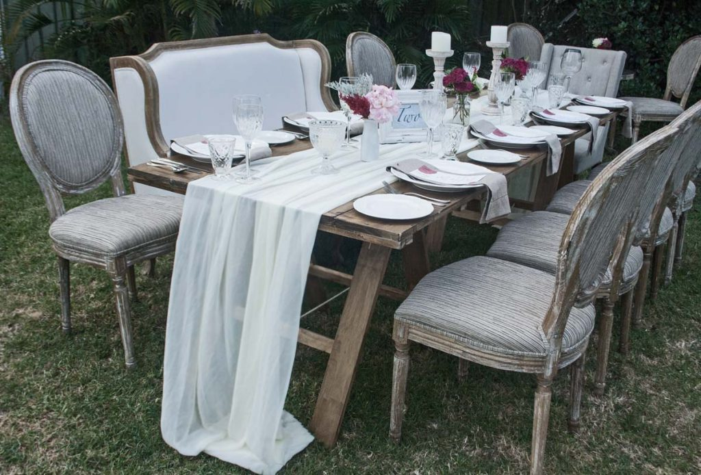ivory sheer table runners 3m x 40 cm