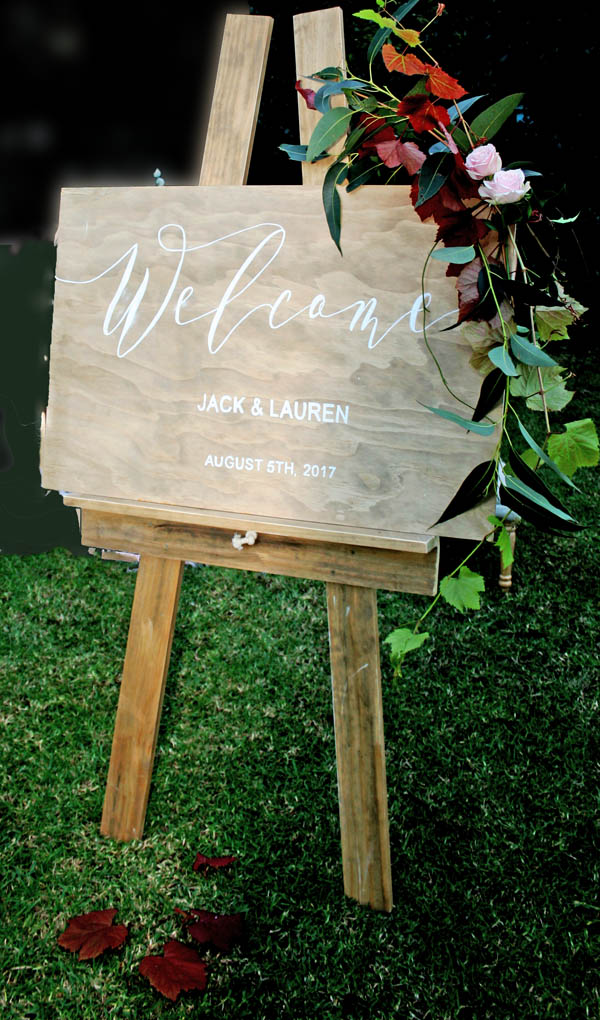 Timber Wedding Welcome Sign