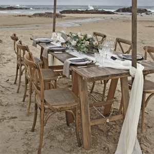 wooden trestle table hire 2.4 x .9 Mtrs