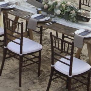 mahogany tiffany chiavari chair hire