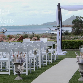 wedding ceremony canopy glover lawn the anchorage port stephens
