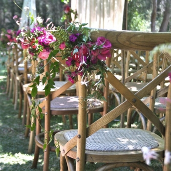 cross back timber chair hire