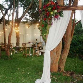 garden wedding ceremony timber arbor_sm-2