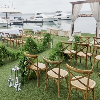 wedding ceremony The Anchorage, Port Stephens waterfront