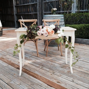Wedding Registry Signing table and chairs