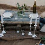boho beach wedding tablescape