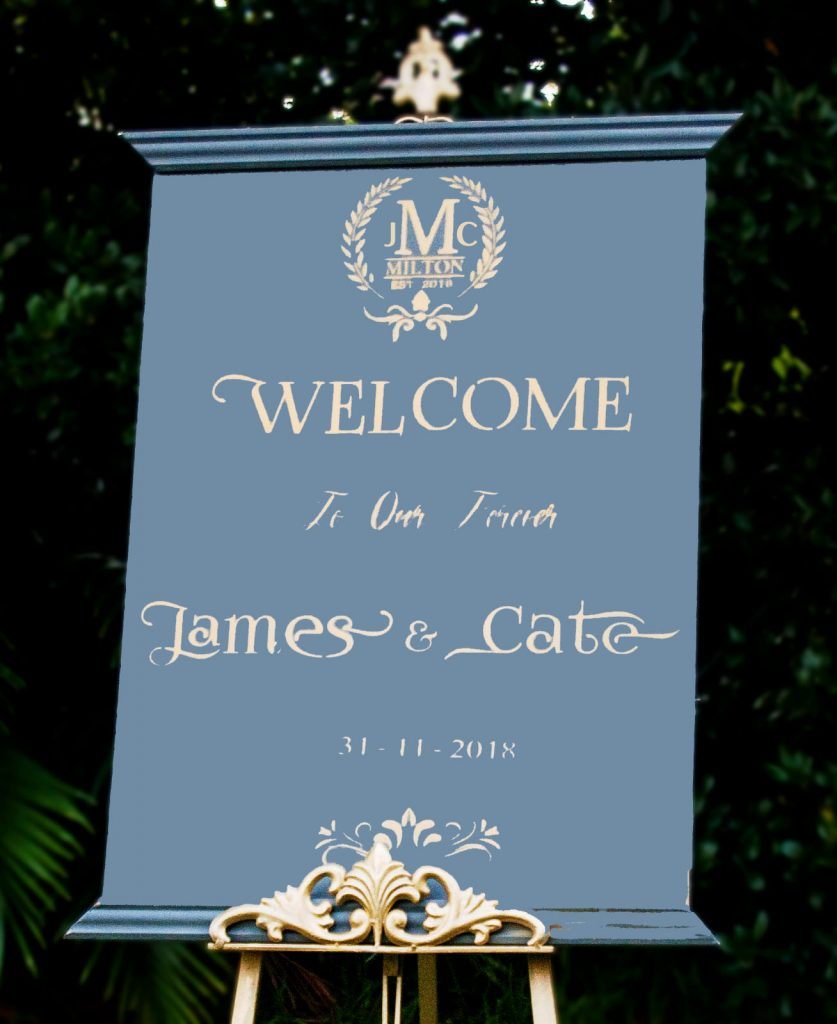 Wooden Wedding or Event Welcome sign