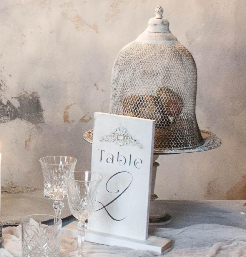 Rustic farmhouse metal serving cloche