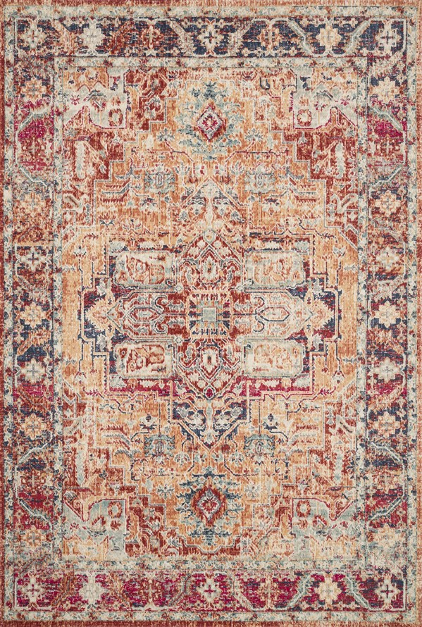 Bohemian Burnt Orange Rug