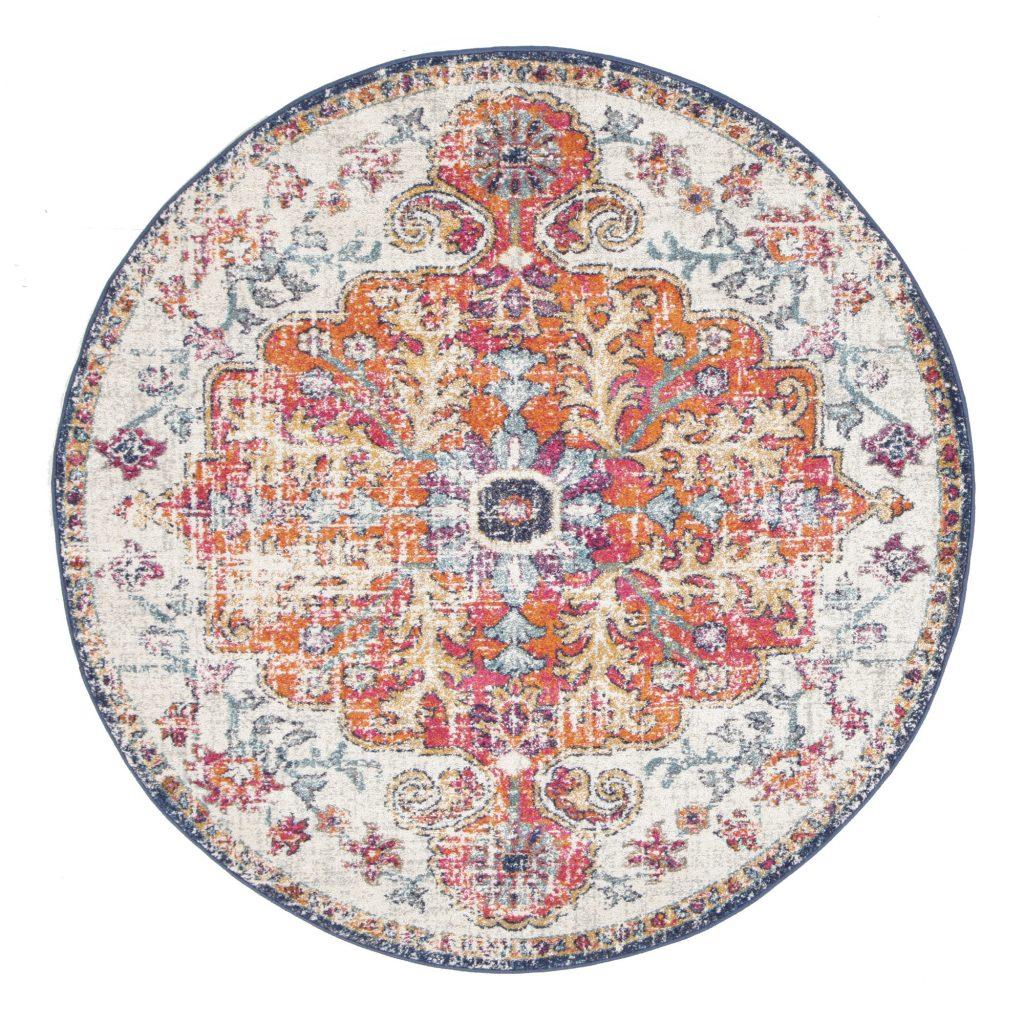 Boho Rug Autumn Tones Large Round
