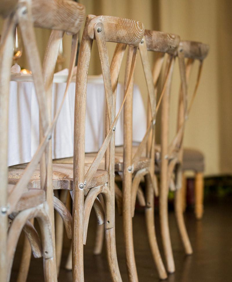 Oak Cross Back Timber Chair