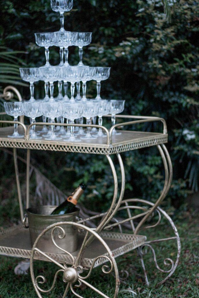 bar cart drinks trolley wedding hire