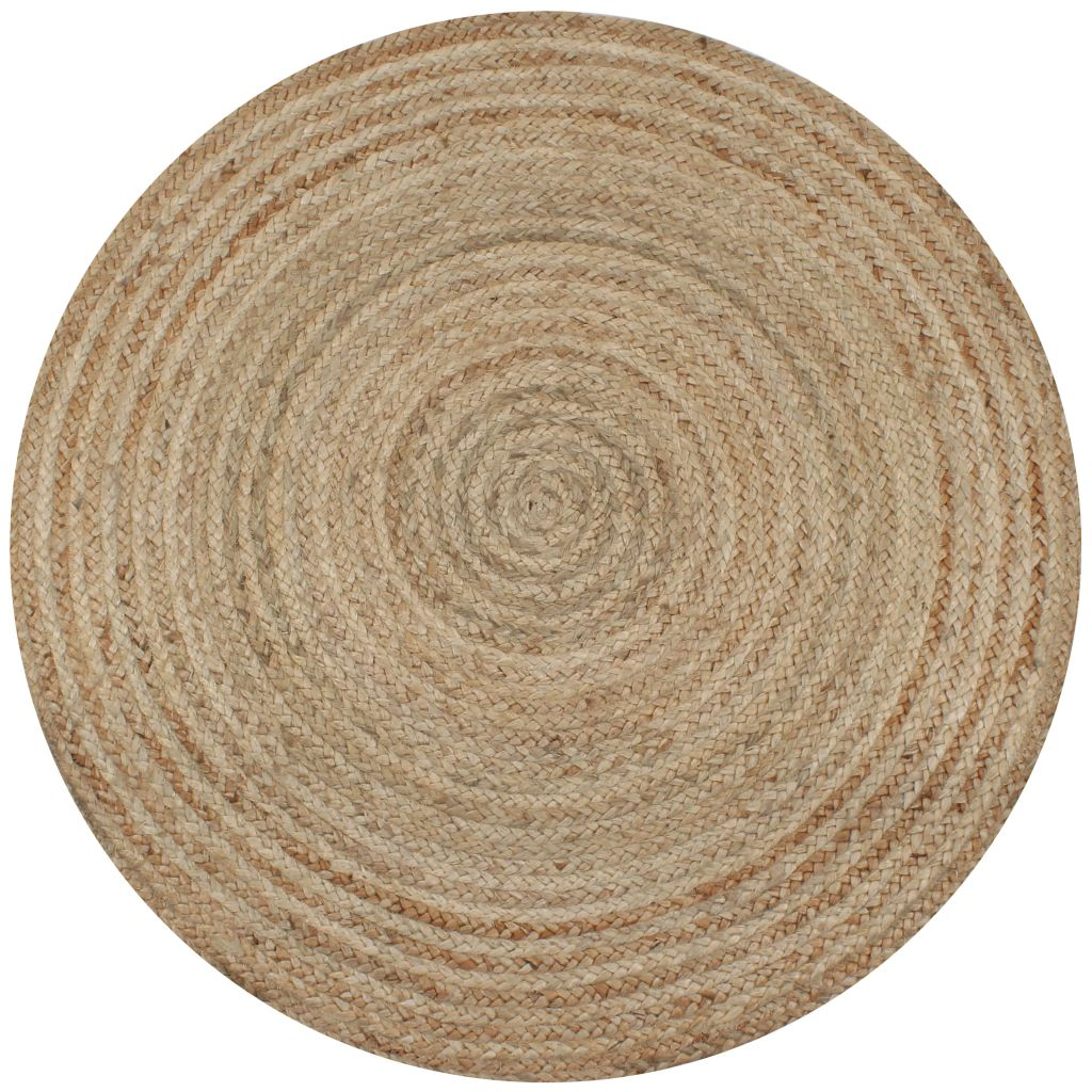 Natural Jute Seagrass Round Rug Hire