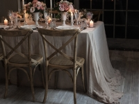 Soft Pinks and corals wedding tablescape