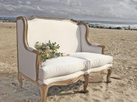 French sofa wedding hire
