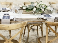 rustic wooden chair hire