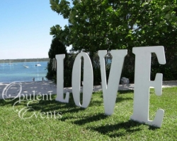 giant love letters - 1 metre tall