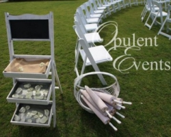 Vintage bakers stand and parasols - wedding hire