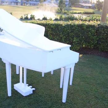 white baby grand piano hire hunter port stephens