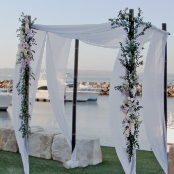 bamboo wedding ceremon canopy