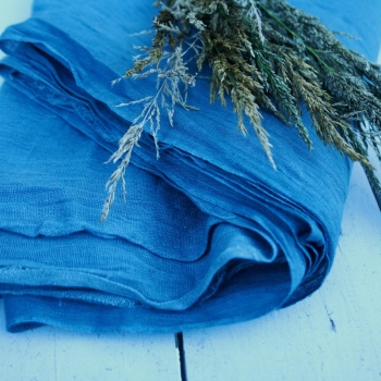 indigo natural table runners_driftwood