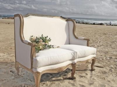 French sofa wedding hire
