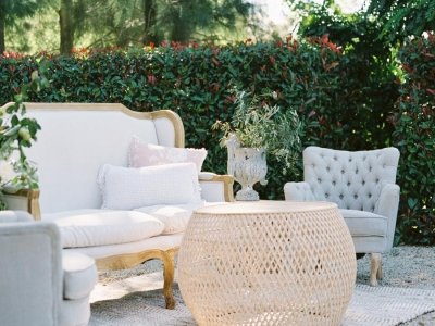 cane coffee table wedding furniture hire