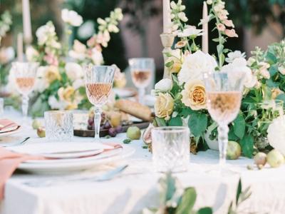 crystal wine glass wedding hire hunter valley