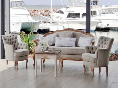 french provincial 3 seater sofa