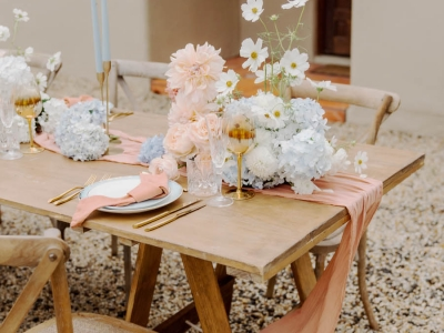timber trestle table hire